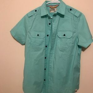 Men's small free planet button up